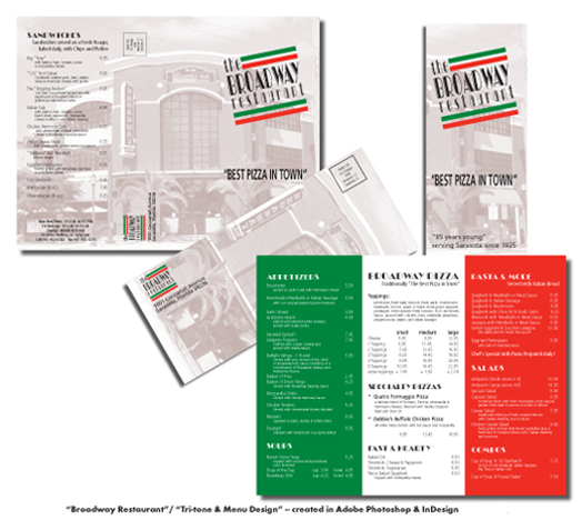 Broadway menu design